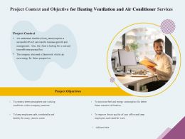 Project Context And Objective For Heating Ventilation And Air Conditioner Services Ppt Icon