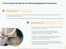 Project Context And Objective For Measuring Business Performance Ppt Gallery