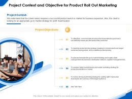 Project Context And Objective For Product Roll Out Marketing Ppt Powerpoint Gallery