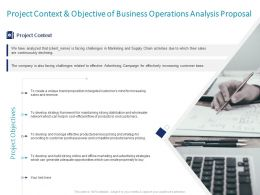 Project Context And Objective Of Business Operations Analysis Proposal Ppt Portfolio