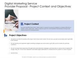 Project Context And Objectives Digital Marketing Service Provider Proposal Ppt Layouts Picture