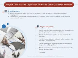 Project Context And Objectives For Brand Identity Design Services Ppt Powerpoint Show