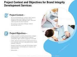 Project Context And Objectives For Brand Integrity Development Services Ppt Presentation Gallery