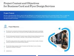 Project Context And Objectives For Business Card And Flyer Design Services Ppt Icon