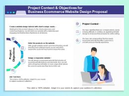 Project Context And Objectives For Business Ecommerce Website Design Proposal Ppt Infographics