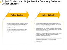 Project Context And Objectives For Company Software Design Services Ppt Inspiration