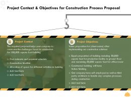 Project Context And Objectives For Construction Process Proposal Ppt File Good
