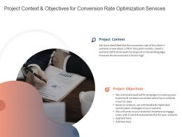 Project Context And Objectives For Conversion Rate Optimization Services Ppt Gallery
