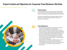 Project Context And Objectives For Corporate Travel Business Services Ppt File Aids
