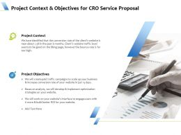 Project Context And Objectives For CRO Service Proposal Ppt Powerpoint Icon Visuals