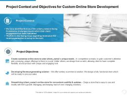 Project Context And Objectives For Custom Online Store Development Ppt Slide