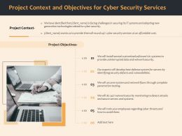 Project Context And Objectives For Cyber Security Services Ppt File Topics