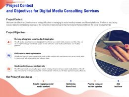 Project Context And Objectives For Digital Media Consulting Services Ppt Infographics
