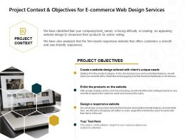 Project Context And Objectives For E Commerce Web Design Services Ppt Powerpoint Example 2015