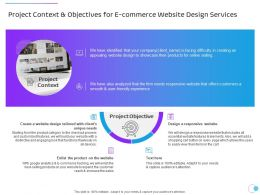 Project Context And Objectives For E Commerce Website Design Services Ppt File