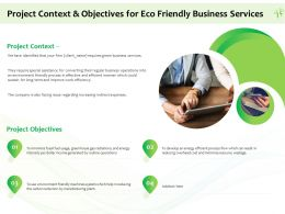 Project Context And Objectives For Eco Friendly Business Services Ppt Powerpoint Image