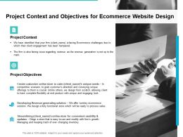 Project Context And Objectives For Ecommerce Website Design Ppt Slide
