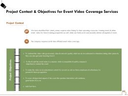 Project Context And Objectives For Event Video Coverage Services Ppt Gallery Files
