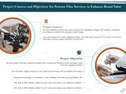 Project Context And Objectives For Feature Film Services To Enhance Brand Value Ppt Demonstration