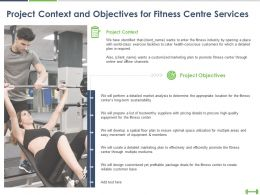 Project Context And Objectives For Fitness Centre Services Ppt Presentation Icon