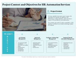 Project Context And Objectives For HR Automation Services Ppt Powerpoint Presentation Ideas Outfit