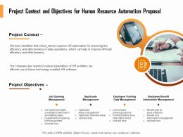 Project Context And Objectives For Human Resource Automation Proposal Ppt Clipart