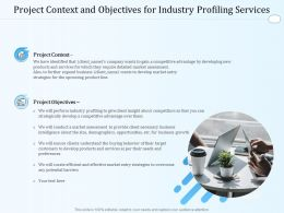 Project Context And Objectives For Industry Profiling Services Ppt Powerpoint Formats