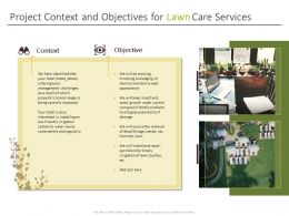Project Context And Objectives For Lawn Care Services Ppt Graphics