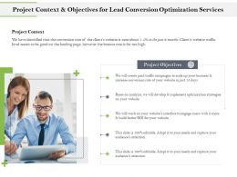 Project Context And Objectives For Lead Conversion Optimization Services Ppt File Elements