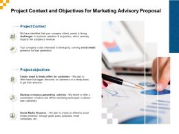 Project Context And Objectives For Marketing Advisory Proposal Ppt Designs