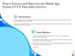 Project Context And Objectives For Mobile App Screens UI UX Flowcharts Services Potential Ppt Presentation Tips