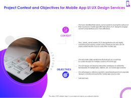 Project Context And Objectives For Mobile App Ui UX Design Services Ppt Powerpoint Layout