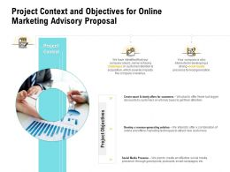 Project Context And Objectives For Online Marketing Advisory Proposal Ppt Ideas