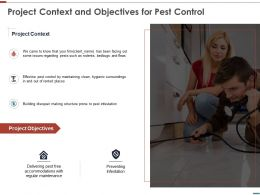 Project Context And Objectives For Pest Control Ppt Slides Topics