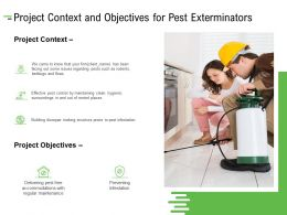Project Context And Objectives For Pest Exterminators Ppt Powerpoint Presentation