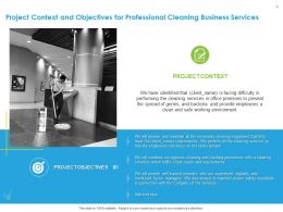 Project Context And Objectives For Professional Cleaning Business Services Ppt File Elements