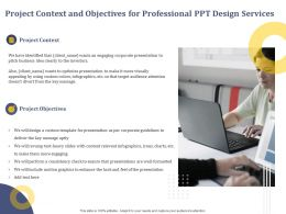 Project Context And Objectives For Professional Ppt Design Services Custom Templateppt Presentation Layout