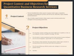 Project Context And Objectives For Quantitative Business Research Services Ppt File Formats