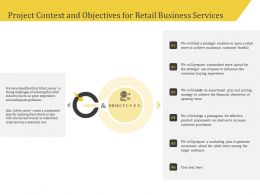 Project Context And Objectives For Retail Business Services Ppt Ideas