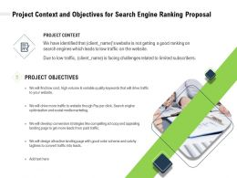 Project Context And Objectives For Search Engine Ranking Proposal Ppt Powerpoint Presentation Tips