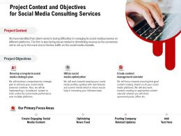 Project Context And Objectives For Social Media Consulting Services Ppt Professional