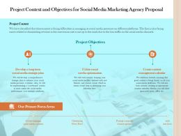 Project Context And Objectives For Social Media Marketing Agency Proposal Ppt File Guidelines