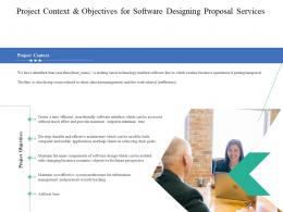 Project Context And Objectives For Software Designing Proposal Services Ppt Powerpoint Slide