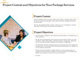 Project Context And Objectives For Tour Package Services Ppt Powerpoint Presentation