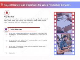 Project Context And Objectives For Video Production Services Ppt File Example Introduction
