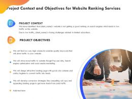 Project Context And Objectives For Website Ranking Services Ppt Powerpoint Presentation Icon
