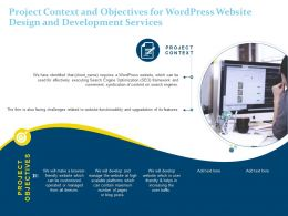 Project Context And Objectives For Wordpress Website Design And Development Services Ppt Icons