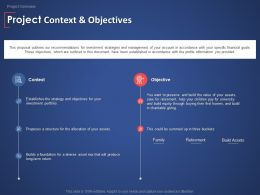 Project Context And Objectives Planning Management Ppt Powerpoint Presentation Inspiration Files