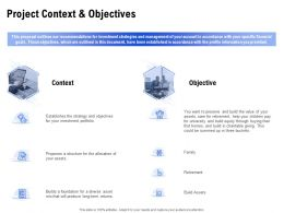Project Context And Objectives Ppt Powerpoint Presentation Inspiration