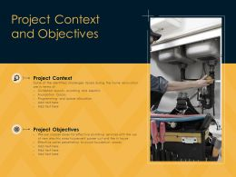 Project Context And Objectives Ppt Powerpoint Presentation Portfolio Visuals